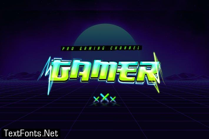 Gaming Text Effect 5th