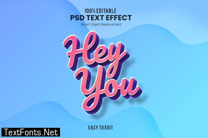 Hey You - Playful 3D PSD Text Effect