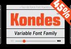 Kondes Font Family