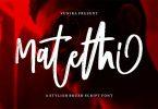 Matethi | A Stylish Script Brush Font