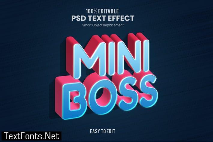 Mini Boss - Playful 3D PSD Text Effect