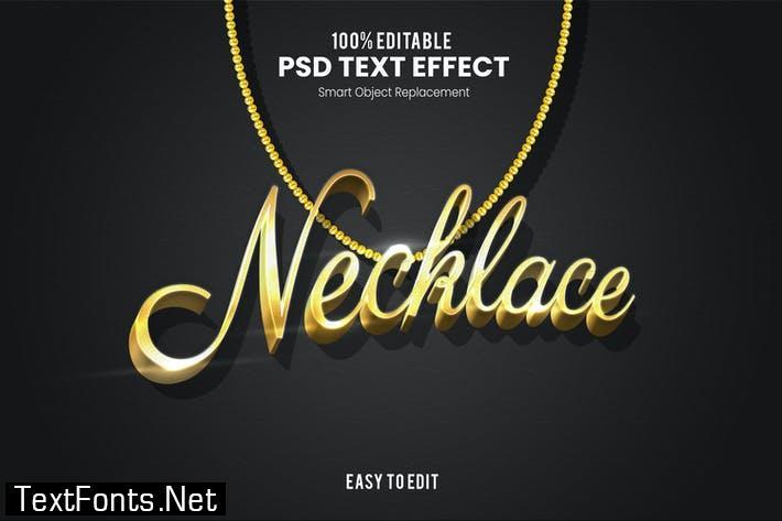 Necklace - Elegant 3D PSD Text Effect
