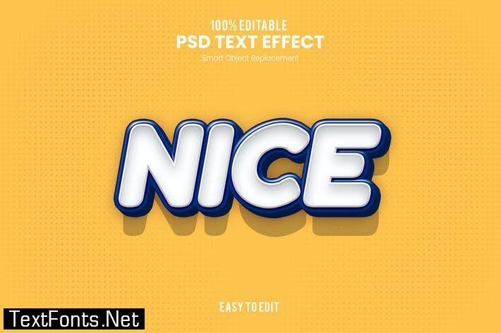 Nice- Playful 3D PSD Text Effect