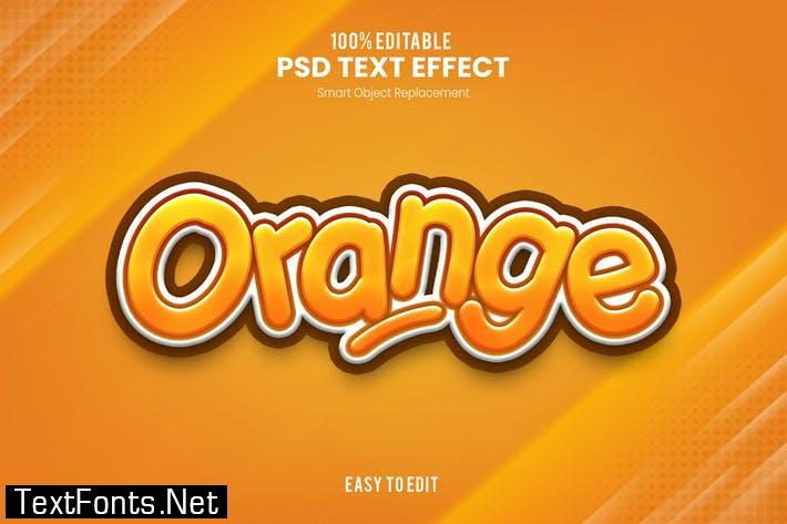 Orange - Playful 3D PSD Text Effect