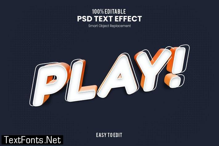 Play - Playful 3D PSD Text Effect