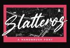 Slatteros - Brush Font