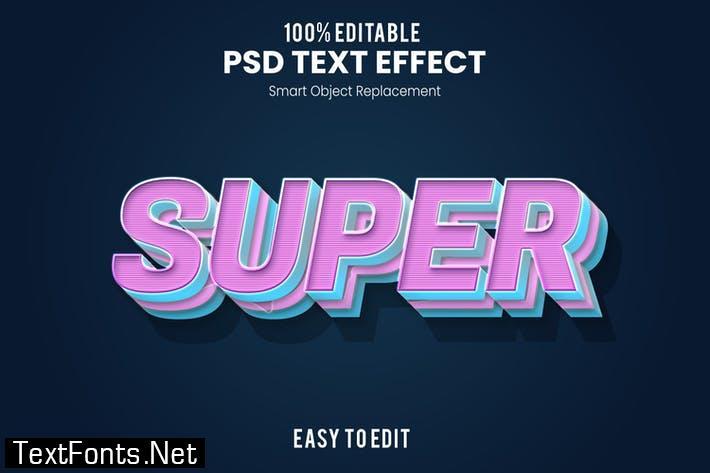 Super - Playful 3D PSD Text Effect