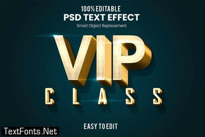 VIP - Elegant 3D PSD Text Effect