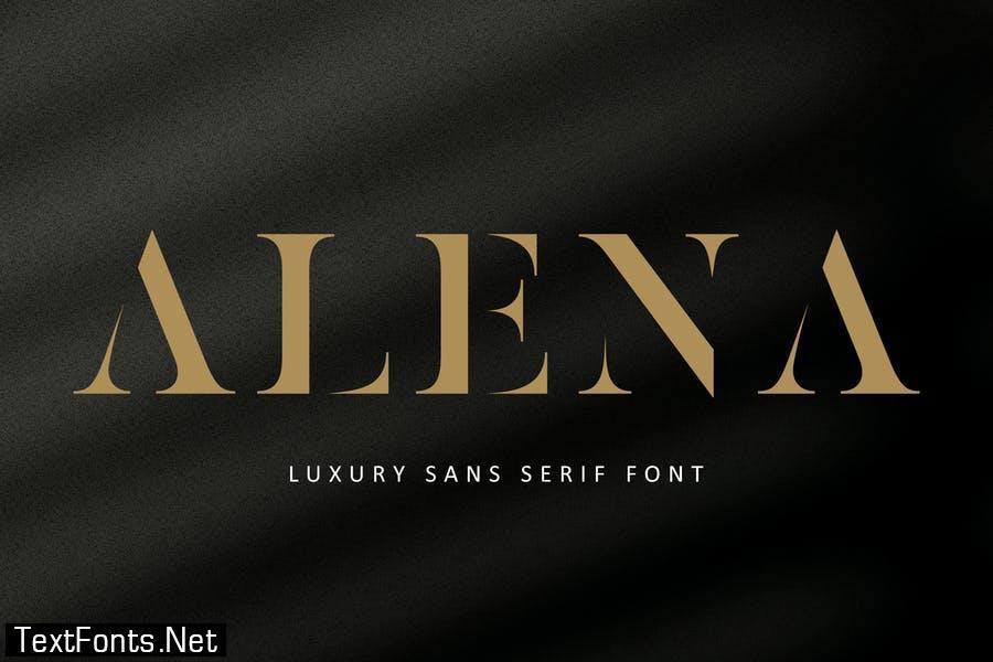 ALENA Advertisement Font
