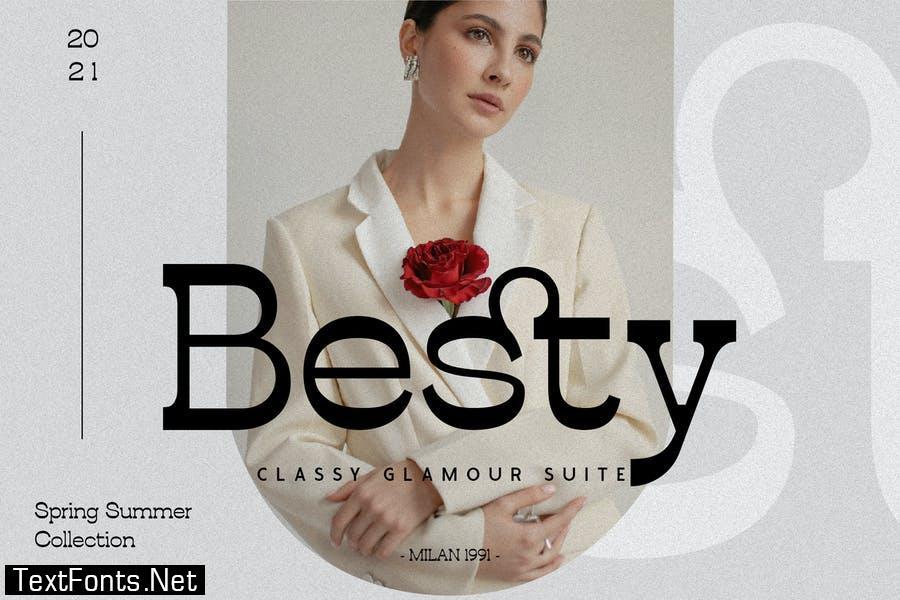Atfiesta - Elegant Reverse Slab Serif