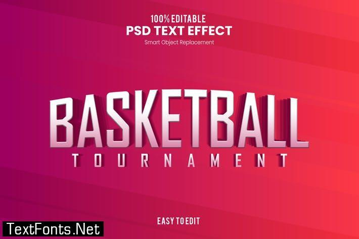 Basketball - Sporty PSD Text Effect