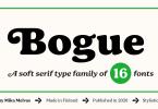 Bogue Font