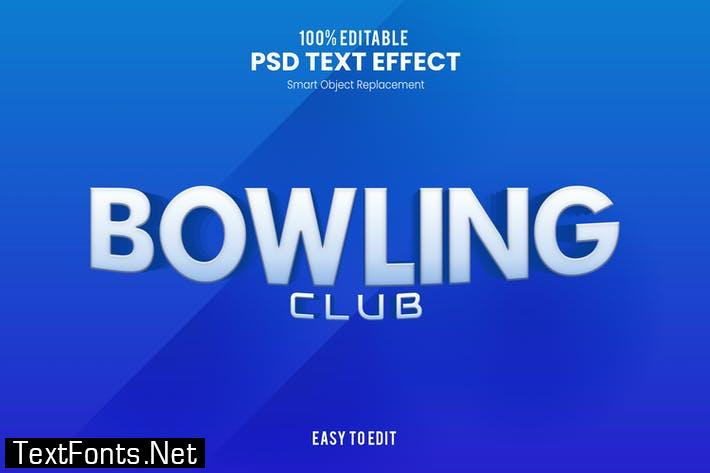 Bowling - Sporty PSD Text Effect