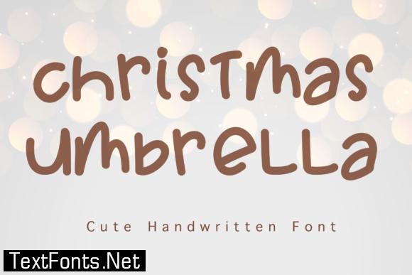 Christmas Umbrella Font