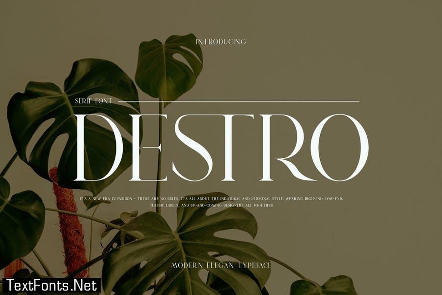 DESTRO Ligature Serif Font