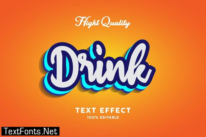 Drink text effect