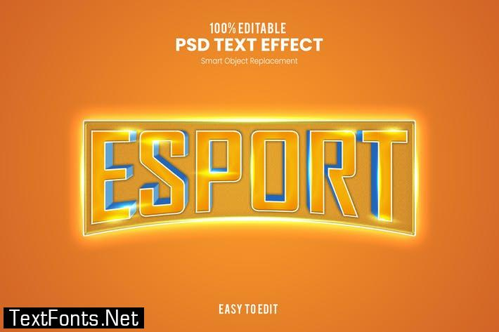 Esport - Sporty PSD Text Effect  C6H8WUL