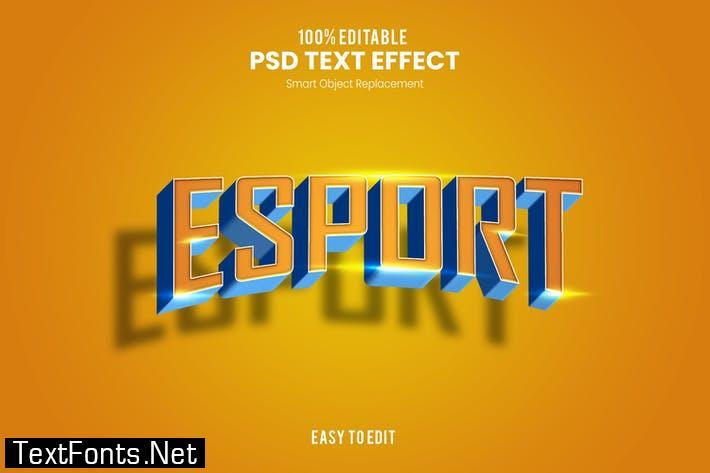 Esport - Sporty PSD Text Effect