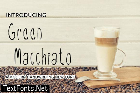 Green Macchiato Font