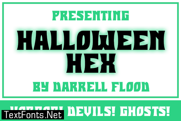 Halloween Hex Font