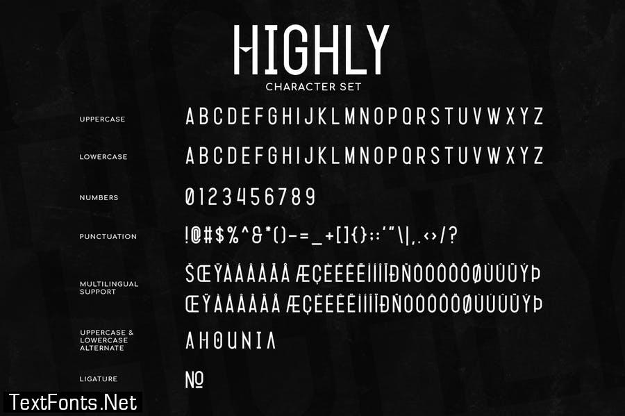 Highly – Condensed Typeface