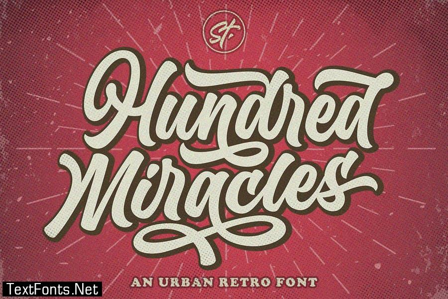 Hundred Miracles Urban Retro Font