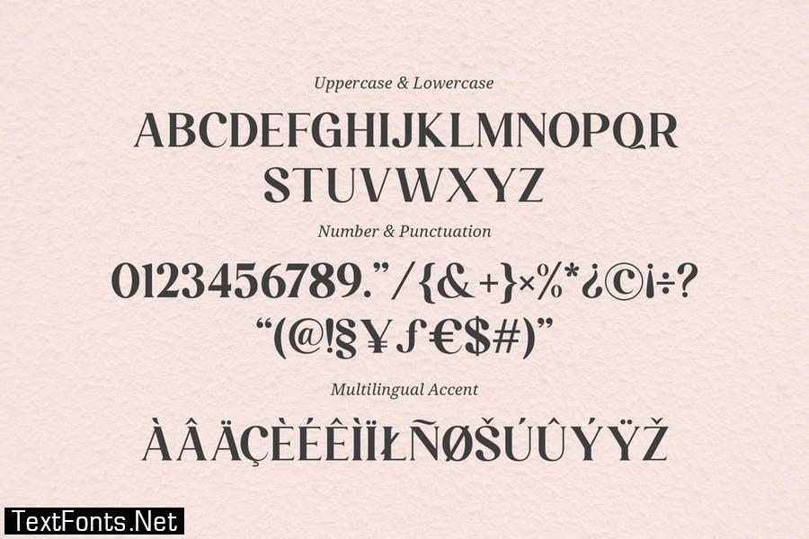 Larissa - Stylish Ligatur Typeface