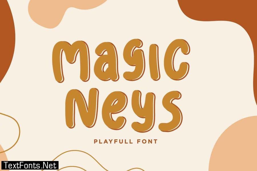 Magic Neys - Fun Children Font