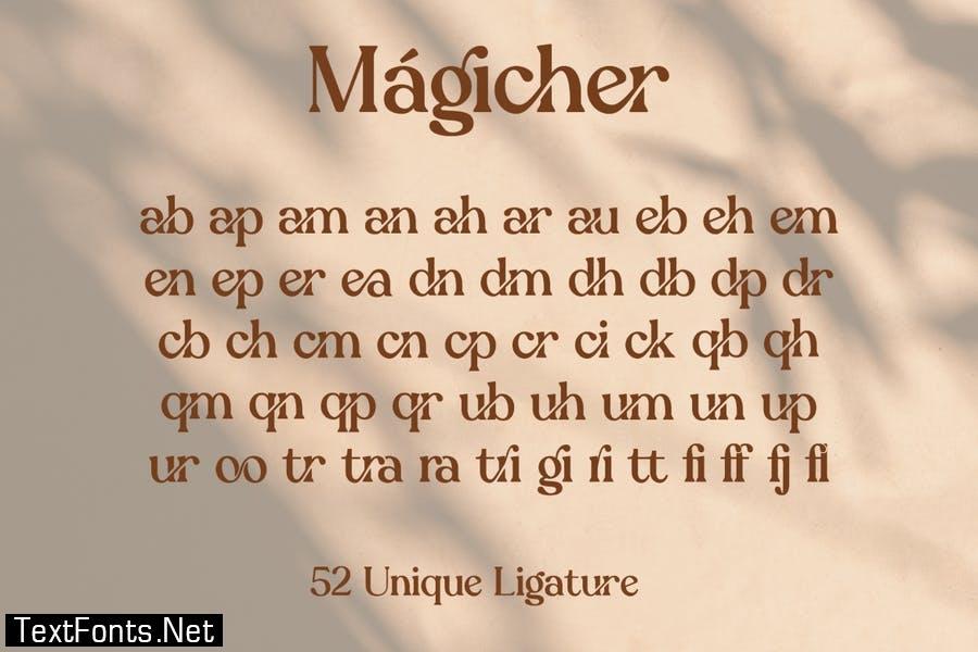 Magicher - Ligatures Connected Serif