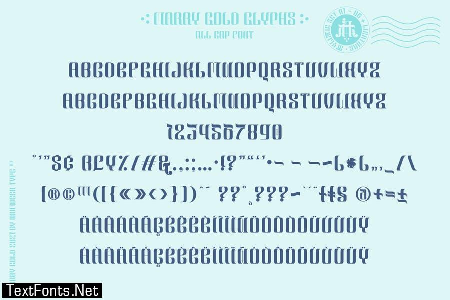 Marry Gold Font