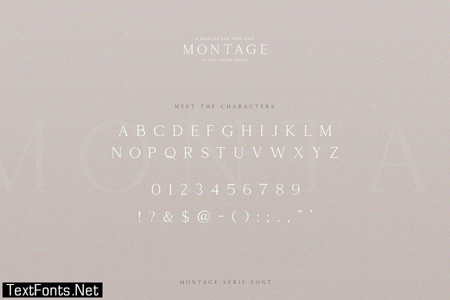 Montage Serif Font