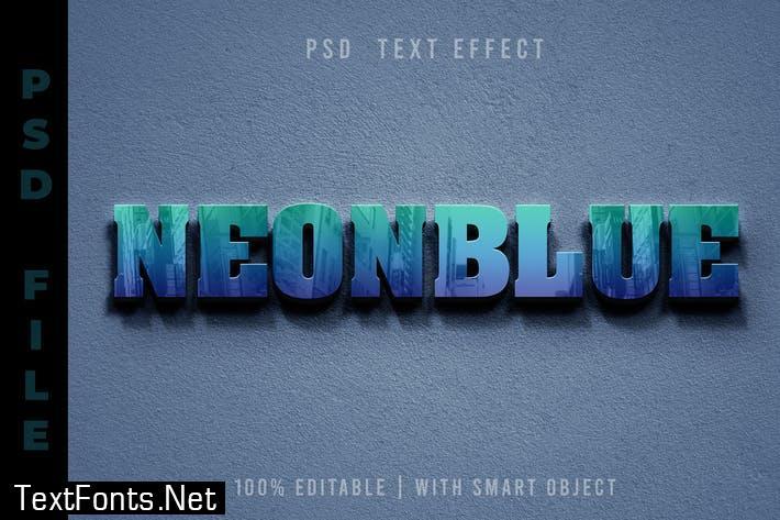 PSD Text Editable - Blue Reflection