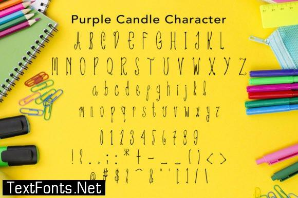 Purple Candle Font
