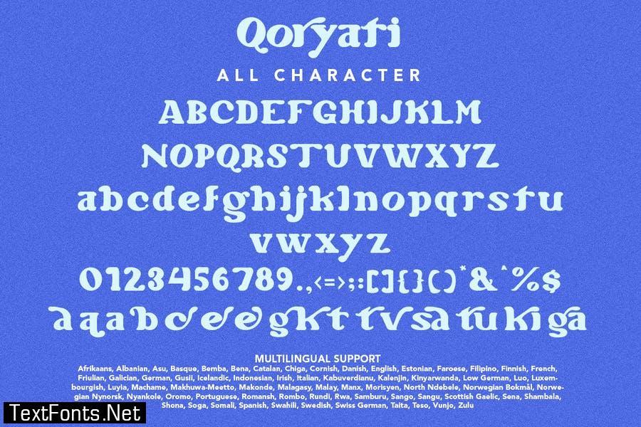 Qoryati - Classy & Elegant Font