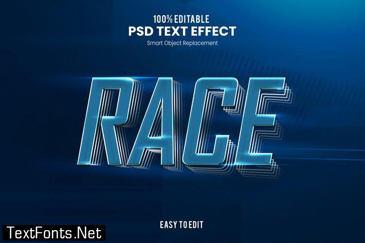 Race - Sporty PSD Text Effect