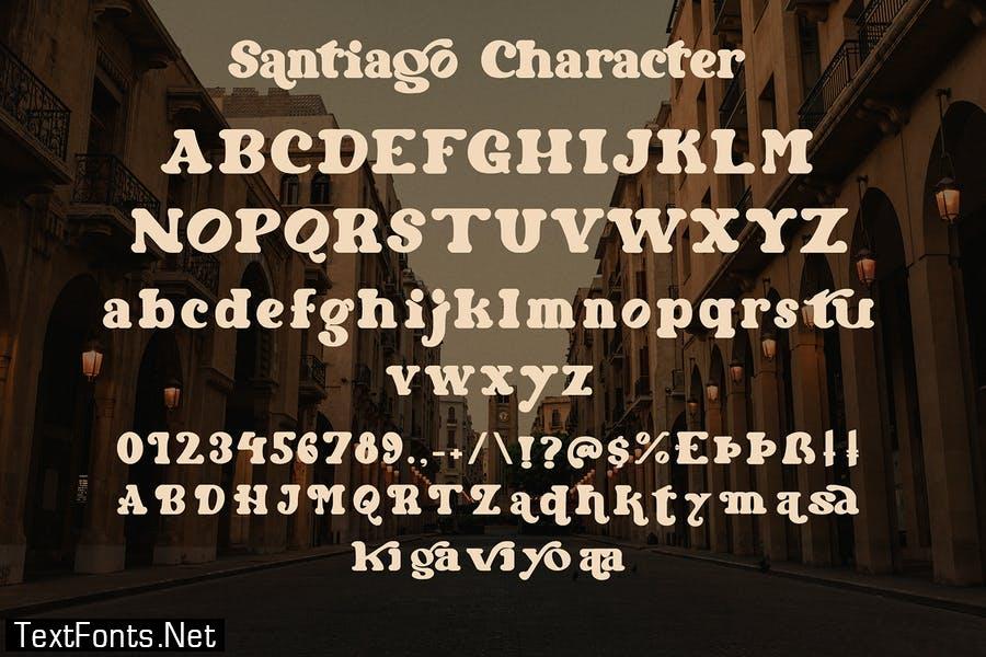 Santiago - Retro Typeface Font