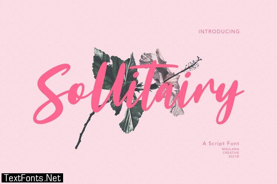 Sollitairy Script Font