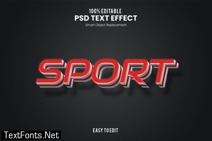 Sport - Sporty PSD Text Effect