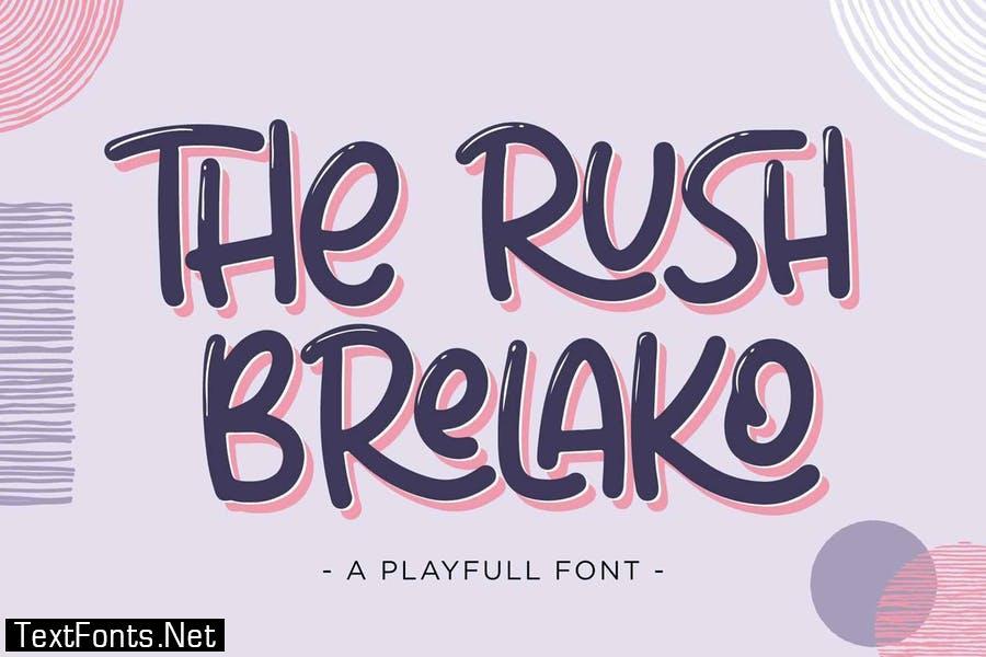 The Rush Brelako - Cartoon Font