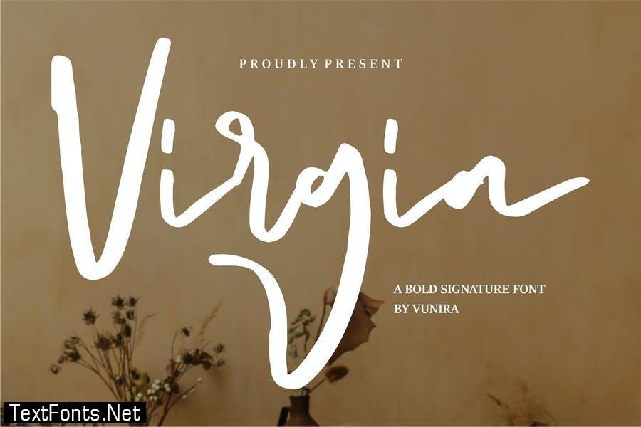 Virgia | A Bold Signature Font