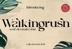 Walkingrush Font