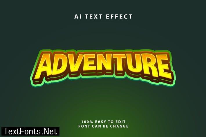 Adventure Halftone Text Effect
