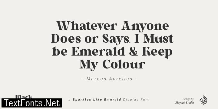 Al Black Emerald Font Family