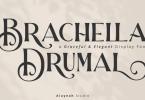 Al Brachella Drumal Font Family