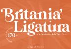 Al Britania Ligatura Font Family