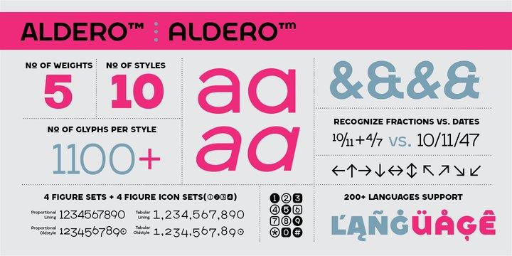 Aldero Font Family