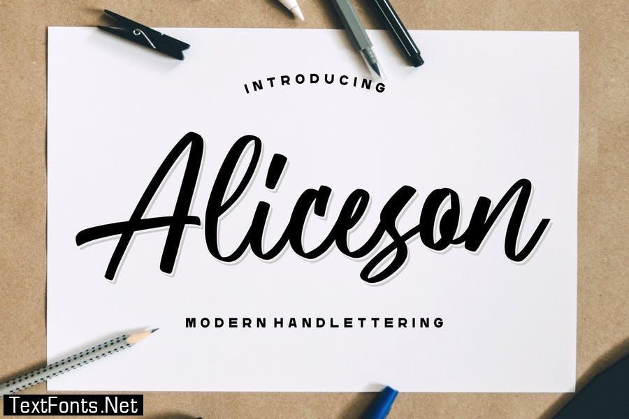 Aliceson – Modern Handlettering