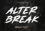 AM ALTERBREAK - Brush Font