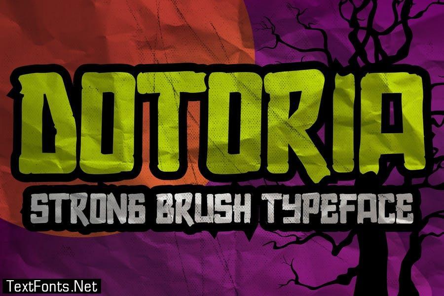 AN Dotoria - Comical handmade Font