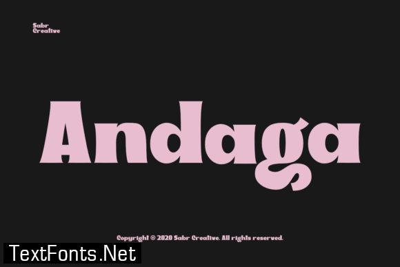 Andaga Font